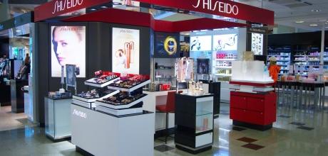 Shiseido corner, cosmetics brand